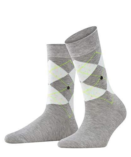 Burlington Damen Neon Pixel Queen Socken, grau (Storm Grey 3820), 36-41