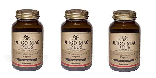 SOLGAR-OLIGO MAG PLUS 3 CONFEZIONI DA 100 TAVOLETTE-stanchezza,affaticamento ,sistema nervoso