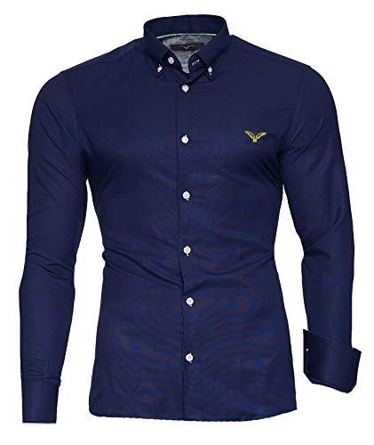 Kayhan Hombre Camisa, Oxford Navy L