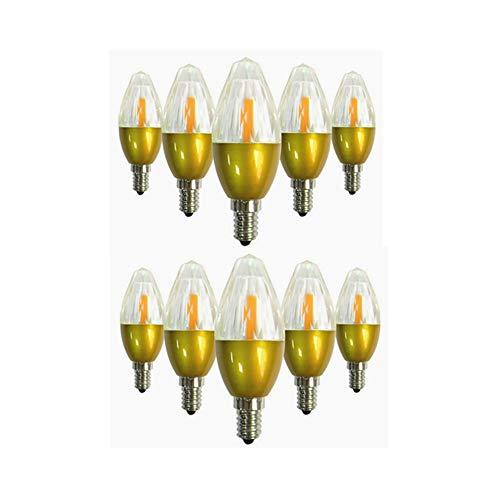 Hoogwaardig LED-licht pak van 10 LED-lampen, E14-fitting, 5 W (50 W halogeenequivalent), 450-500 lm, 3000 K, 6000 K, AC85-265 V E14-niet dimbare kristallen lampen voor de verlichting thuis