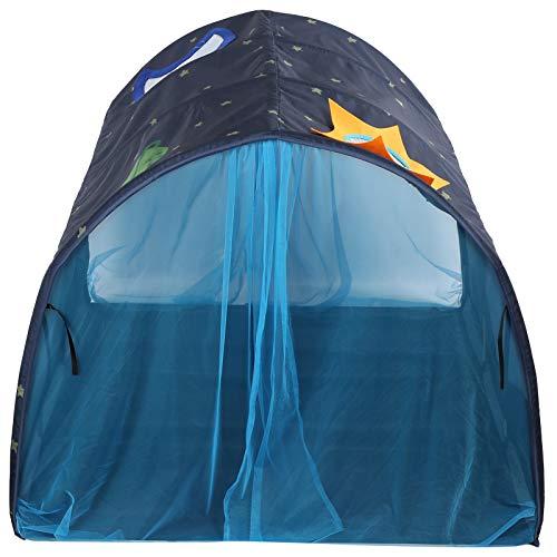 Carpa túnel para bebés, gateando, casa de juegos, portátil, plegable, suficientemente espaciosa, portátil, resistente y fácil de limpiar, resistente al agua(Mosquitera azul)
