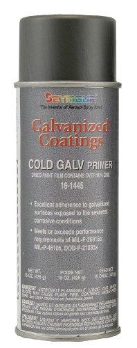 Seymour 16-1445 galvanized coatings spray paint, cold galvanized primer