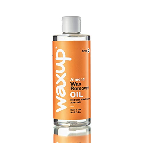 waxup Almond Oil Wax Remover (8 Fl. Ounces), After Waxing Skin Care Product, Post Wax Oil Cleanser for Professional and At Home Waxing For Women and Men.