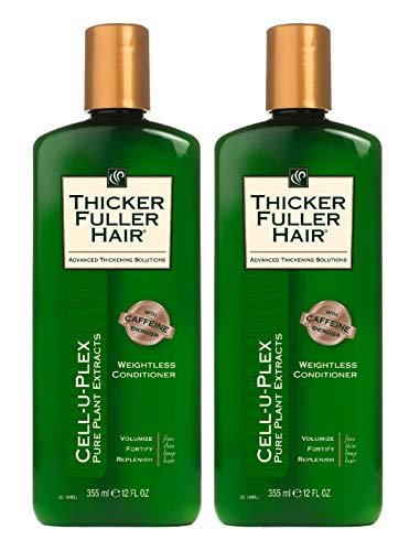Thicker Fuller Hair Conditioner Weightless 12 Ounce (355ml) (Pack of 2)