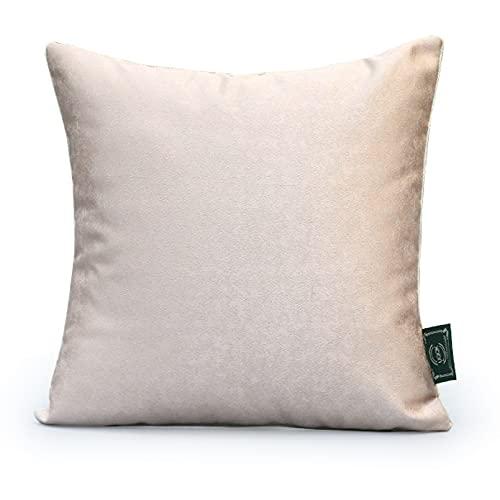 QXbecky Cojines Satén Rosa, Lujo Ligero, Alta precisión, Almohada Cuadrada con núcleo Interior, Accesorios de decoración de sofá Minimalistas Modernos de 45 cm