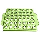 sharprepublic Tapas de bálsamo labial de bricolaje Barras de labios de envase redondo Molde de llenado de espátula de 42 orificios Bandeja de llenado profesional al - 150