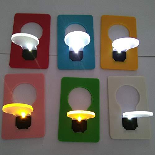 szlsl88 8 stuks LED-nachtlampje, mini leuke gloeilampen van creditcard-map, creatief