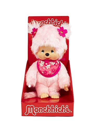 Monchhichi Sakura (Cherry Blossom) Girl Plush Toy - Pink