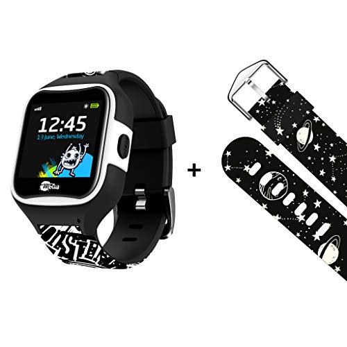 Motus Watchy [Smartwatch voor kinderen] Verbonden horloge met GPS - Veilig kind [inclusief 2 polsbandjes] (bel uw kind, toepassing voor positiecontrole van kinderen, SOS-knop) [veiliger]