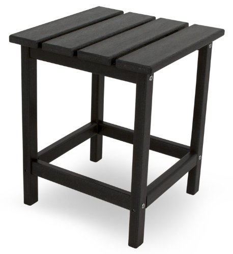 POLYWOOD ECT18BL Long Island 18' Side Table, Black