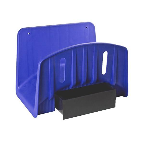Tatay 42101 Soporte de Pared Colgador para Manguera de 50 m, con cajón para Accesorios de riego plástico, Azul, 27 x 17…