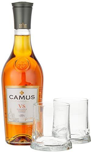 Camus VS Elegance Cognac mit Geschenkverpackung mit 2 Gläsern  Cognac (1 x 0.7 l)