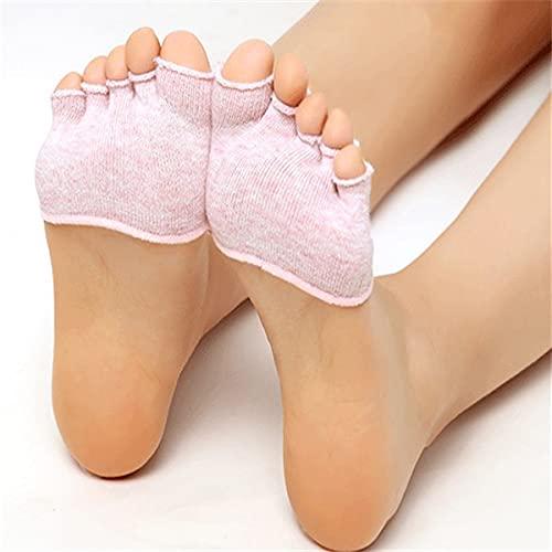 MURUI WZ01 2 Paar halbe Handfläche fünf Finger Socken Damen Baumwolle unsichtbar Sommer dünn halber Clip High Heel atmungsaktiv Vorderfuß Fünf Finger Socken Slip YC0405 (Farbe: A)