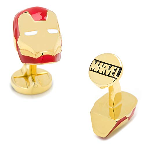 Mens Bodega Manschettenknöpfe Marvel Avengers Iron Man, Superheld, Iron Man Helm, inkl. Marvel-Geschenkbox