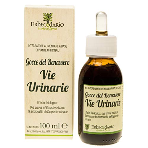 Gocce Del Benessere Vie Urinarie Erbecedario, Per Il Benessere Delle Vie Urinarie, Lenitivo e Depurativo, 1 Flacone 100ml