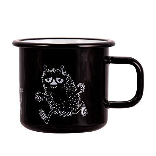 Moomin - Taza (370 ml), color negro