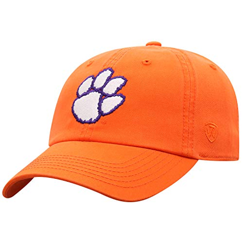 Top of the World Clemson Tigers Men's Adjustable Relaxed Fit Team Icon hat, Adjustable