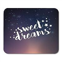 マウスパッド水彩良い魔法の星空夜空甘い夢テキストマウスパッドノートブック、デスクトップコンピューターマウスマット、オフィス用品