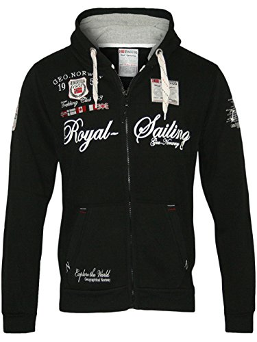 Geographical Norway - Felpa Fighter con cappuccio, da uomo Nero XL