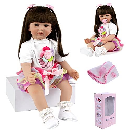 ZIYIUI Bambola Reborn Femmina 24 Pollici Realistico Vinile Silicone Morbido Simulazione Bambino 60 CM Bambole Reborn Babies Regalo di Compleanno Giocattoli