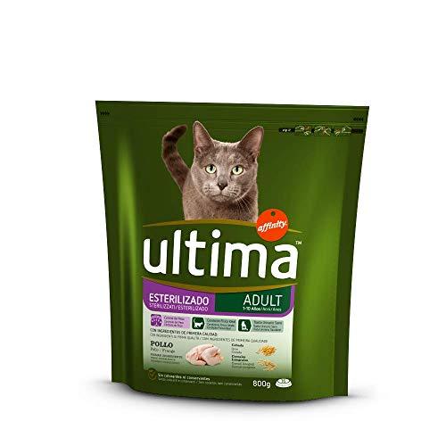 ULTIMA alimento para gatos esterilizados con pollo bolsa 800 gr