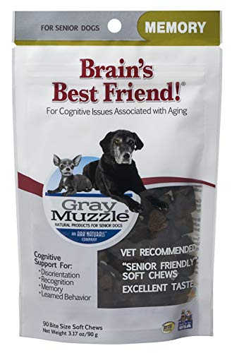 Ark Naturals Gray Muzzle Brain's Best Friend Vet Recommended Soft Chews for Cognitive Issues Associated with Aging, 90 Count Bag (Best Mental Ray Render Settings)