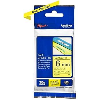 4 Schriftbänder kompatibel zu Brother P-Touch TZE-S641 8m//18mm Schwarz auf Gelb
