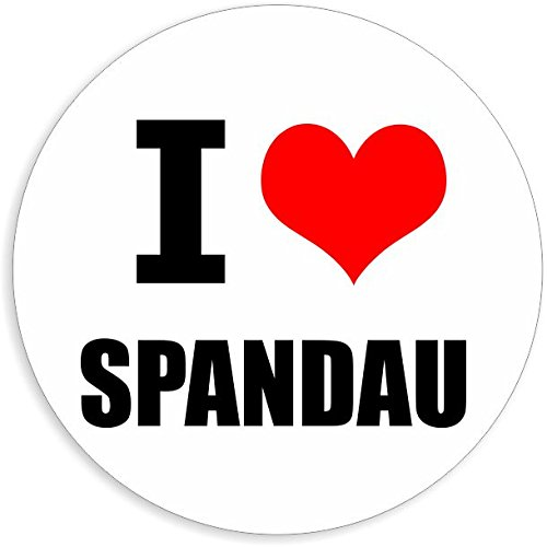 I love Spandau in 2 Größen erhältlich Aufkleber mehrfarbig Sticker Decal