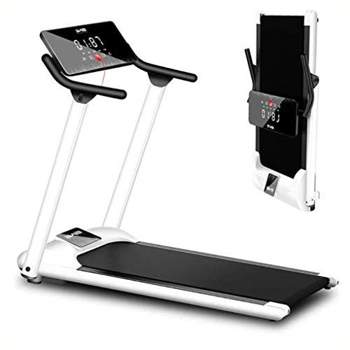 HHJJ Weiße Faltbare elektrische Laufband-tragbare Hausübmaschine Fitness 3.5HP stumm und vibrationsfreies Desktop-Laufband mit LCD-Display einstellbare Neigung RunningMachine1121