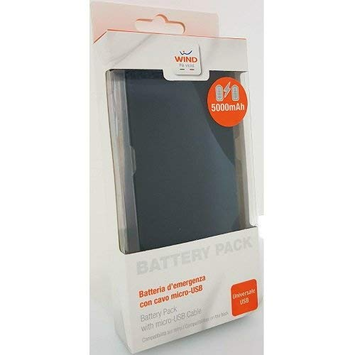 DIVASHOP Power Bank Soft Touch -Wind 5000 mAh per Nokia Lumia 920 32 GB/Lumia 925 / Lumia 928 / Lumia 929 / Lumia 1020 / Lumia 1320/8 Lumia 1520 / Lumia 2520