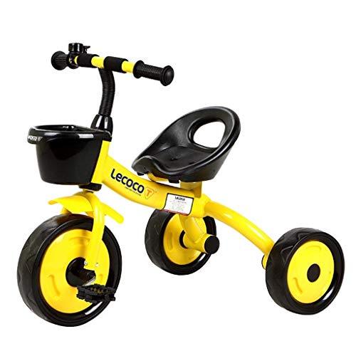 HongTeng Bici for Bambini Biciclette for Triciclo Personalizzato Bici for Bimbi Bici for Bambini da 5 a 5 Anni Triciclo da Viaggio Facile da trasportare (Color : Yellow)