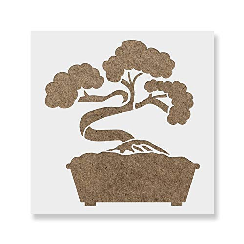 Bonsai Tree Stencil - Reusable Stencils for Painting - Create DIY Bonsai Tree Crafts and Projects