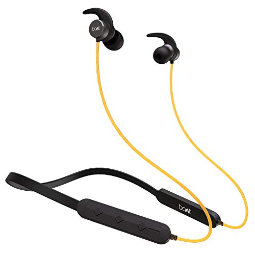 boAt Rockerz 255 Pro Wireless Headset with ASAP Charge Technology, Bluetooth V5.0, Qualcomm Chipset, Super Extra Bass, IPX5 Sweat and Water Resistance and Up to 6H Playtime (Blazzing Yellow)