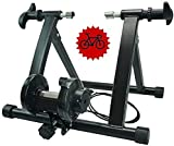 Bike Turbo Trainer Magnetic Cycling Stand with Quick Release Wheel Block, Heavy Duty Stable Bike Stationary Riding Stand Supports Bicycle Trainer
