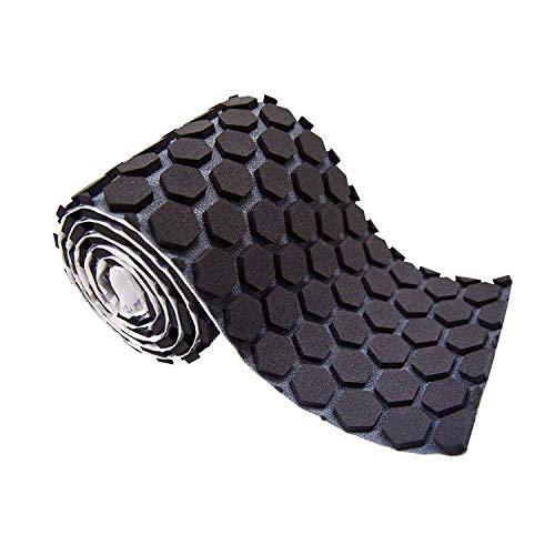 McDavid HEX Padded Turf Tape. Sticks to Skin. Protective Padded Performance Tape Roll, Black.