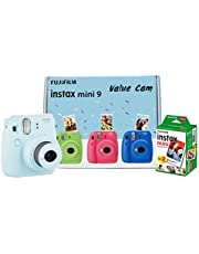 Fujifilm Instax Mini 9 Value Cam Camera with 20 Film Shot Free (Ice Blue)