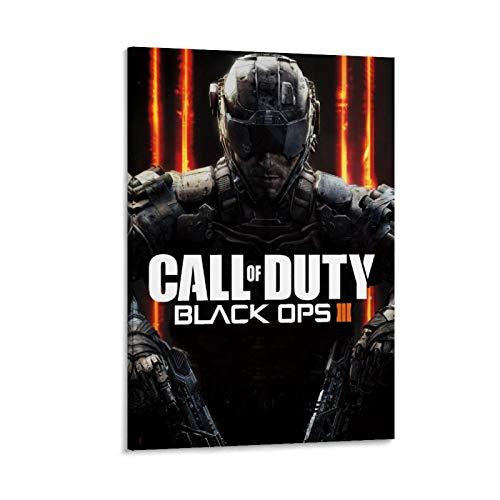 XIAOTT Póster de videojuegos de Call of Duty Black Ops 15 lienzo artístico y arte de pared impreso moderno para decoración de dormitorio familiar de 60 x 90 cm