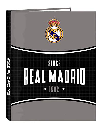 Safta Carpeta con Folios4 Anillas de Real Madrid, 265x330 mm