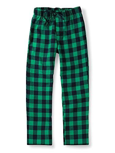 Aeslech Mannen Katoen Geweven Pajama Lounge Pant, Plaid Zachte Slaapmode
