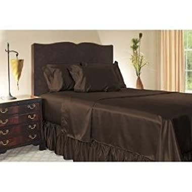 Royal Opulance Satin King Sheet Set, Chocolate