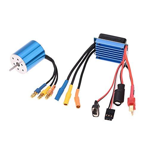 GoolRC 2430 7200KV 4P Sensorless Brushless Motor mit 25A Brushless Regler ESC (elektrische Drehzahlregler) für 1 16 1 18 RC Auto LKW