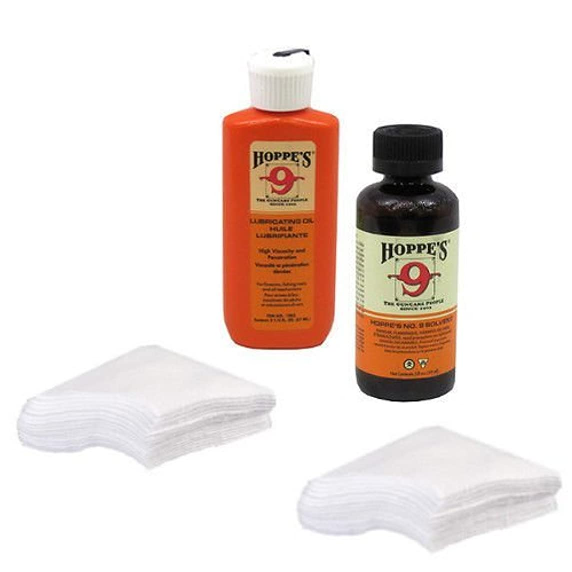 Gun Bore Cleaner and Lubricating Oil with 40 Patches for .38, 9mm, .40, .44 and .45 Caliber Handguns / Pistols Made in USA