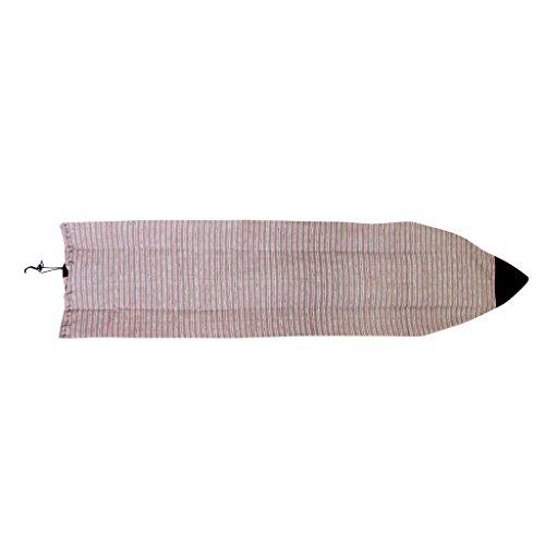 freneci 6'0'/ 7'0' Calcetín de Tabla de Surf Funboard/Shortboard Estuche Protector Funda Protectora Bolsa - Rojo Gris Rayado