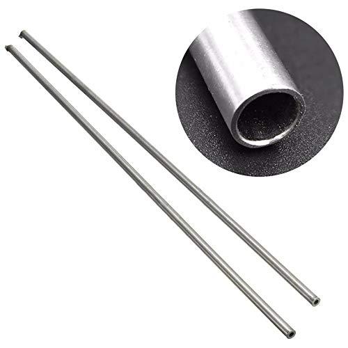 Engfgh 2ST / Set Edelstahl Kapillarrohr, Stahlrohr, 500mm DIY Ansaugrohrs Durchmesser OD 5 Mm Innendurchmesser 3 Mm Länge