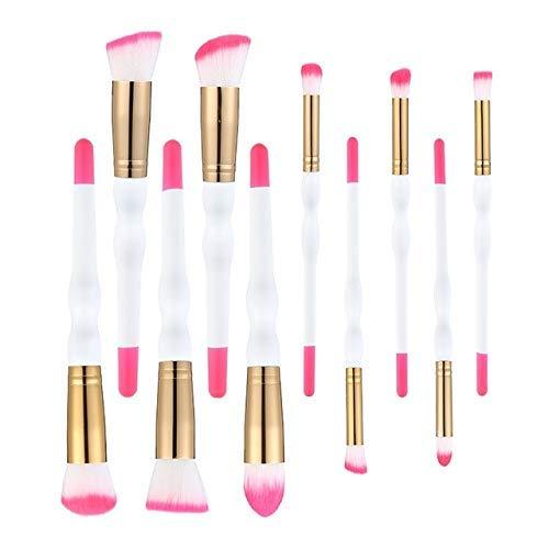 GONGFF Maquillage Pinceau Deux Couleur Poignée en Bois Sourcils Eyeliner Multifonctionnel Maquillage Pinceau Outils De Beauté