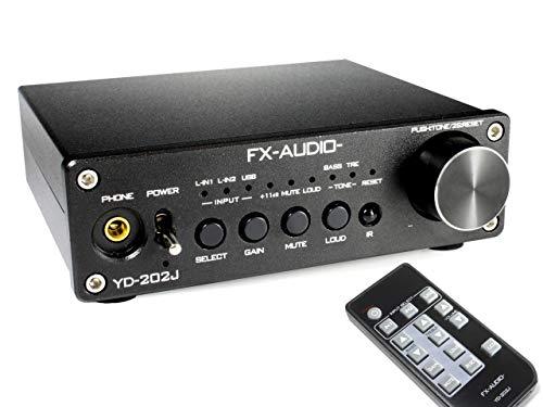『FX-AUDIO- YD-202J『ブラック』YDA138デジタルアンプIC搭載デュアルモノラル駆動式デジタルプリメインアンプ』の1枚目の画像