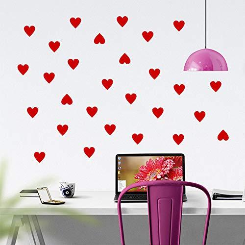 Creatieve Kleine Liefde Hartjes Muurstickers Slaapkamer Kinderkamers Woonkamer Kwekerij Home Decor Vinyl Muurstickers DIY Behang Kunst