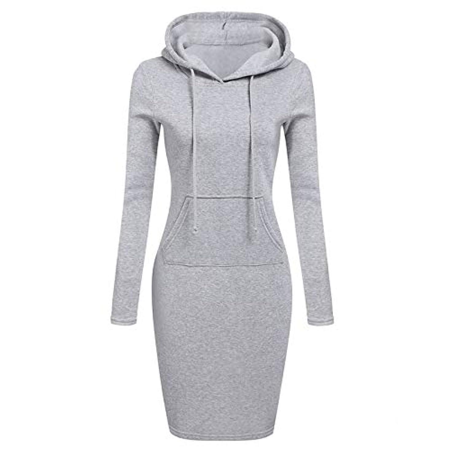 キャプテンブライ機械的ヘビOnderroa - ファッションフード付き巾着フリースの女性のドレス秋冬はドレス女性Vestidosパーカースウェットシャツドレスを温めます