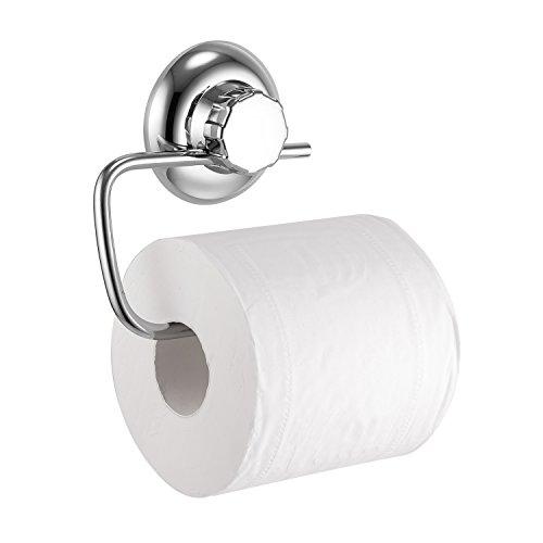 MaxHold Saugschraube Toilettenpapierhalter - Befestigung ohne bohren - Edelstahl Rostet Nicht - Rostfrei Klorollenhalter für Küchen & Badezimmer Aufbewahrung