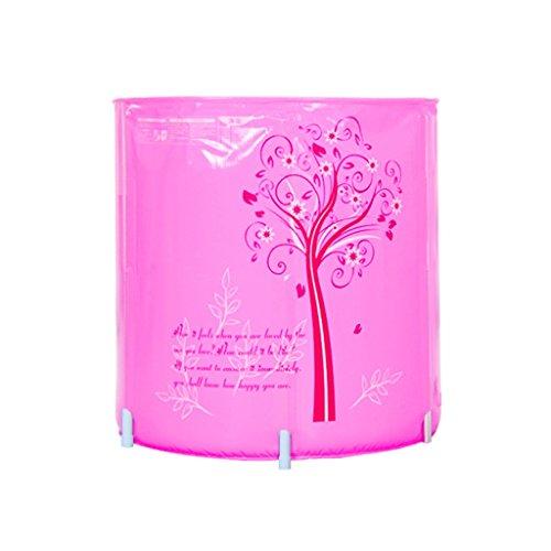Alliage Support Épais En Plastique Adulte Infantile Baignoire Enfant Gonflable Gonflable Baignoire Pliable Durable Dirt/réglable en hauteur/Facile à Plier Bleu, Rose (70 * 70cm) (Couleur : Pink)